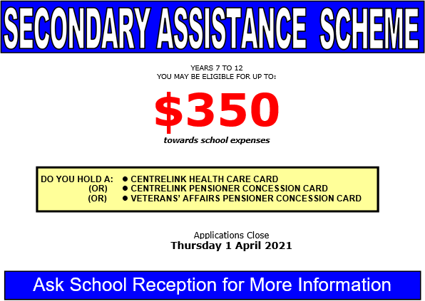 Secondary Assistance
